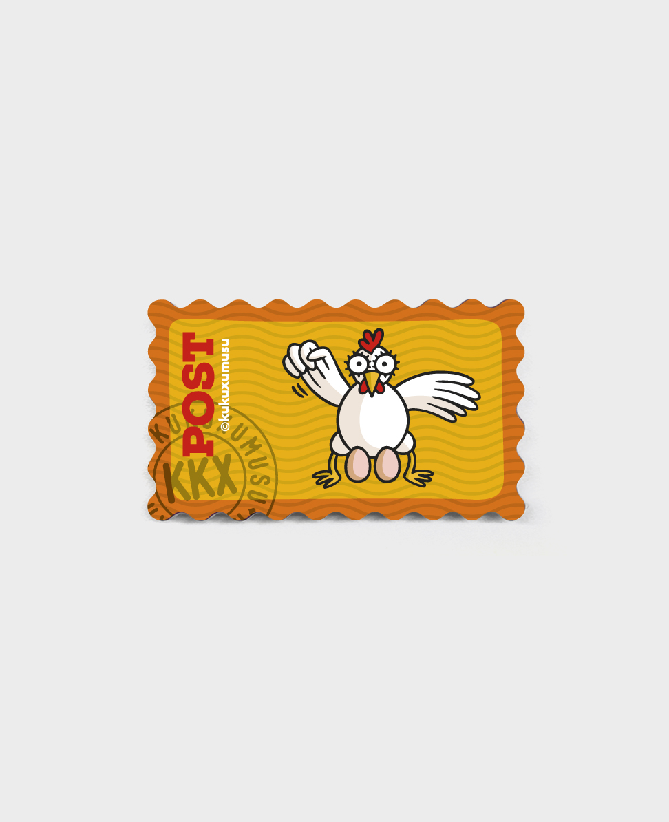 Stamp fridge magnet Golden Egg