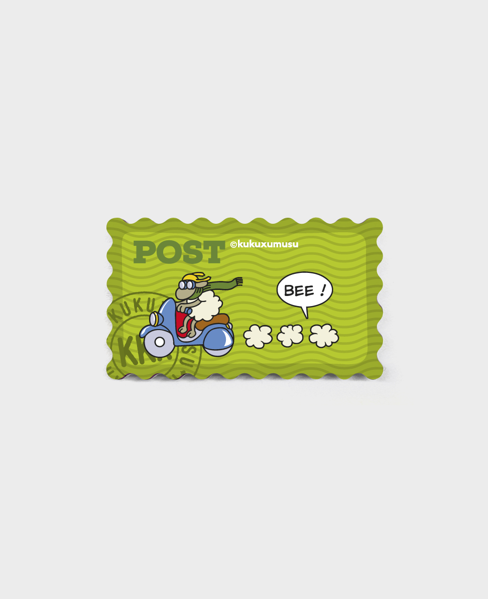 Stamp fridge magnet Scooter