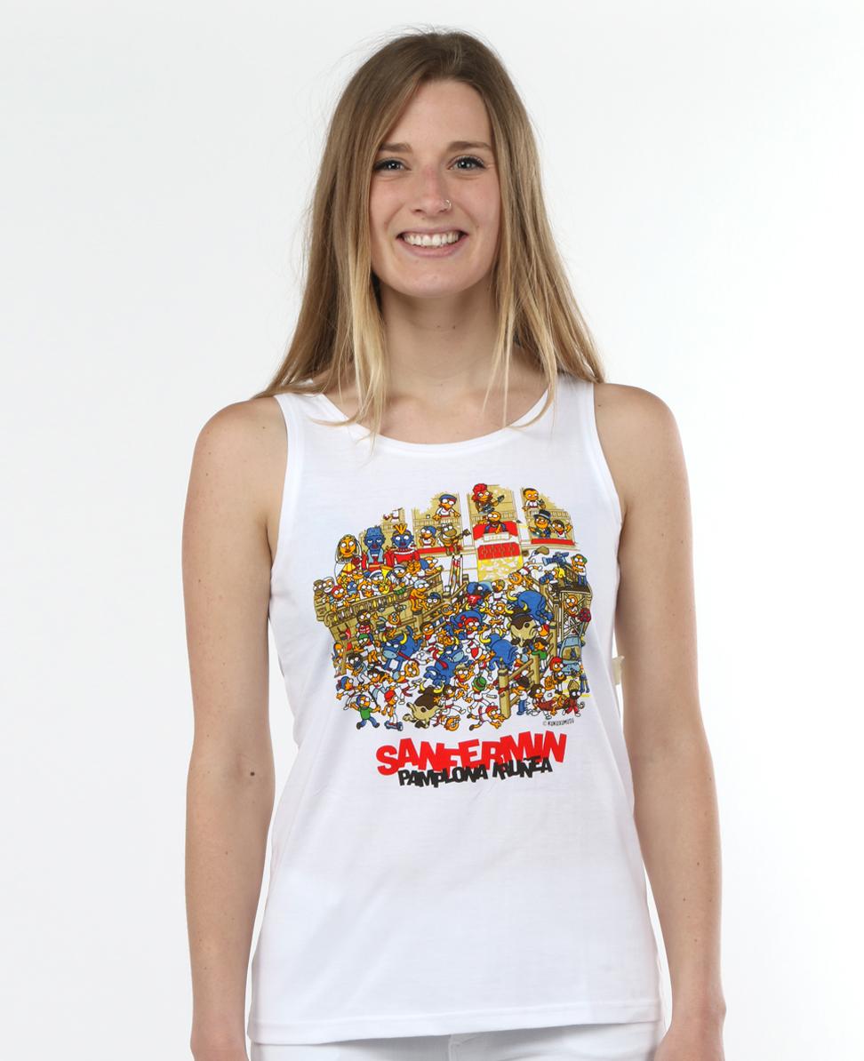 Camisetas chulas Callejón blanca cuello redondo de mujer