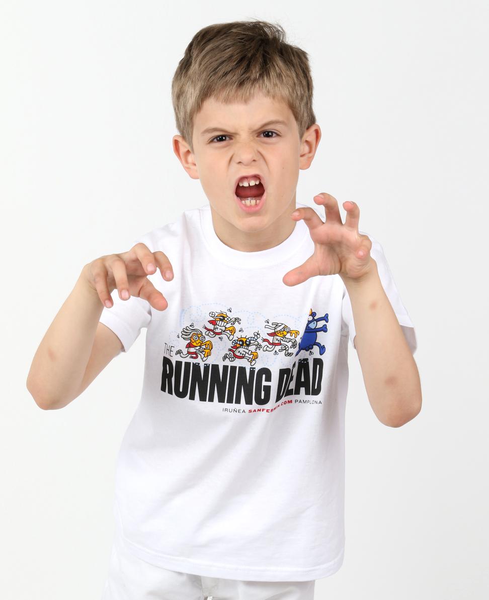 camiseta nino running dead