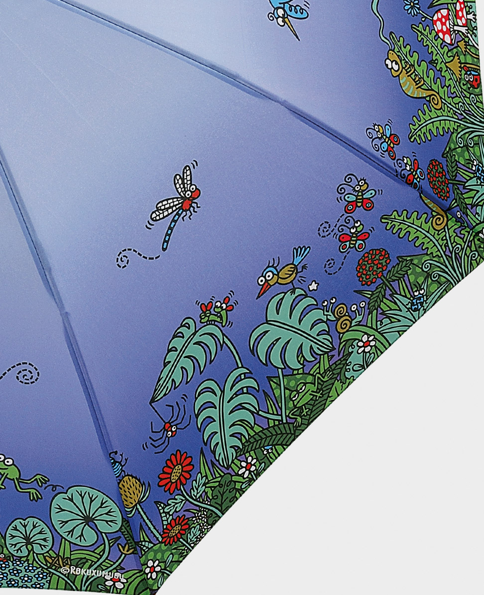Paraguas original tiffany mini azul