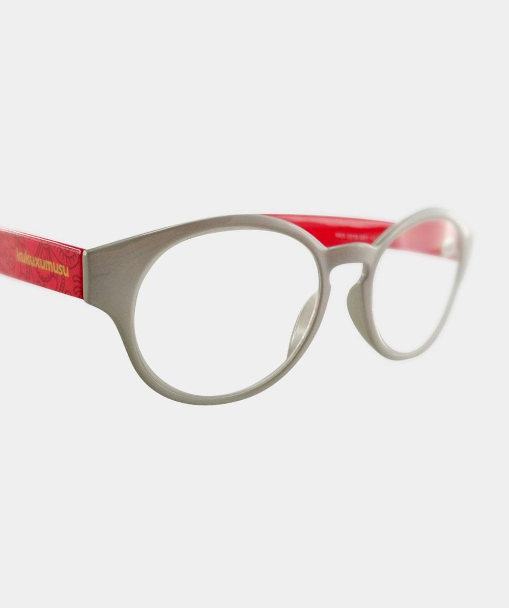 Gafas graduadas rojas animalario