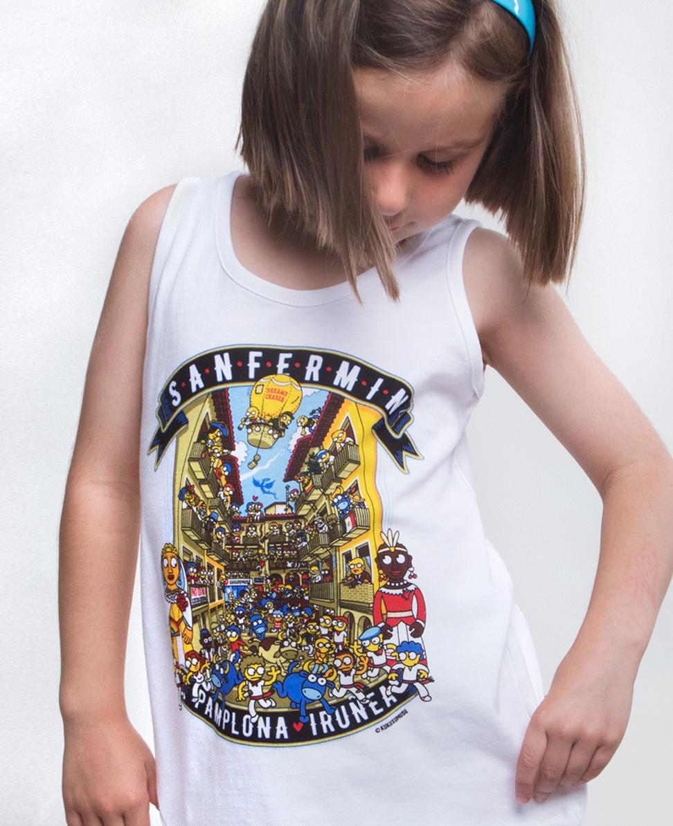 Camiseta tirantes niña...