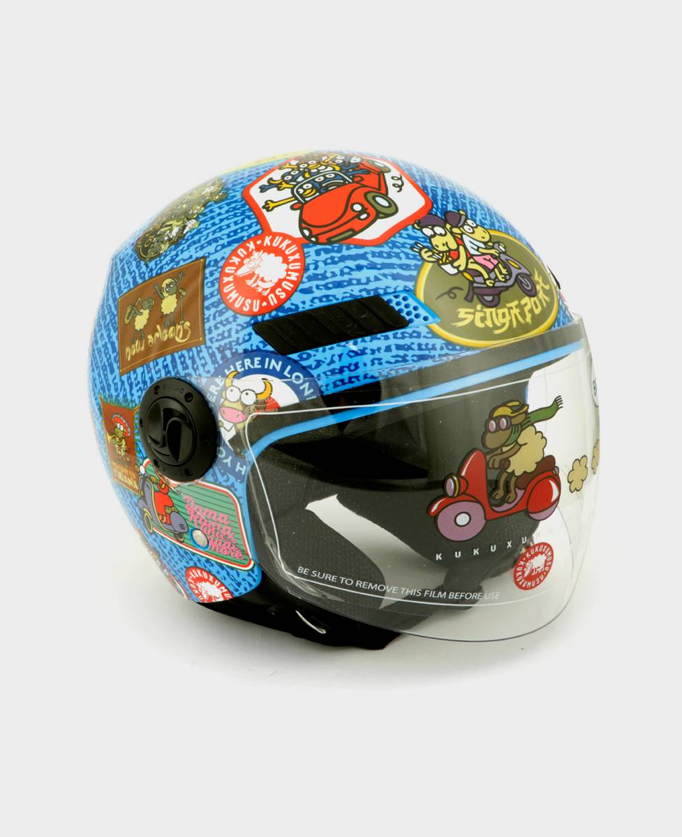 Casco de moto Travel Stamps