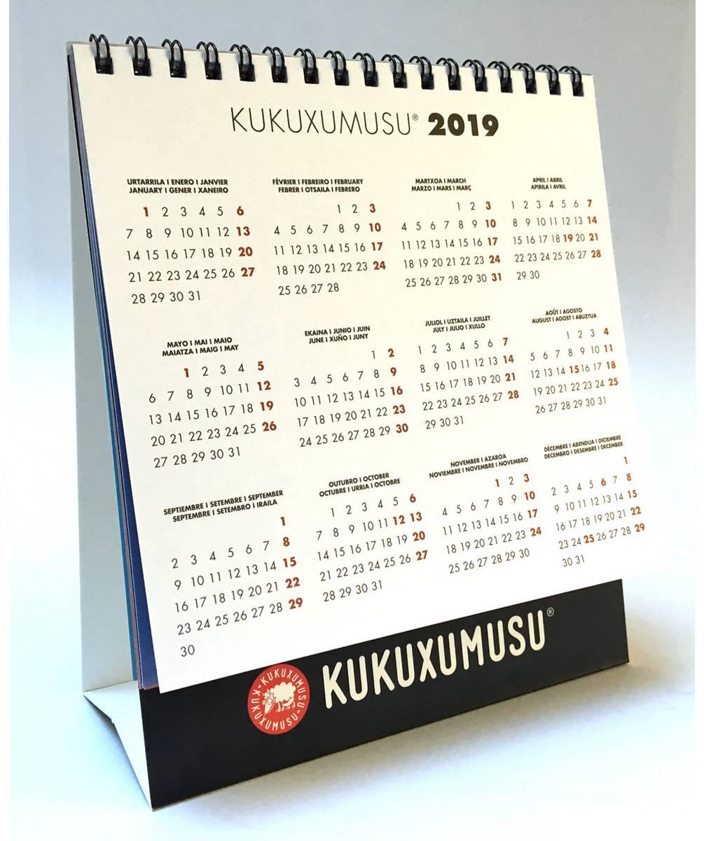 Calendario de mesa 2018 Bicioso
