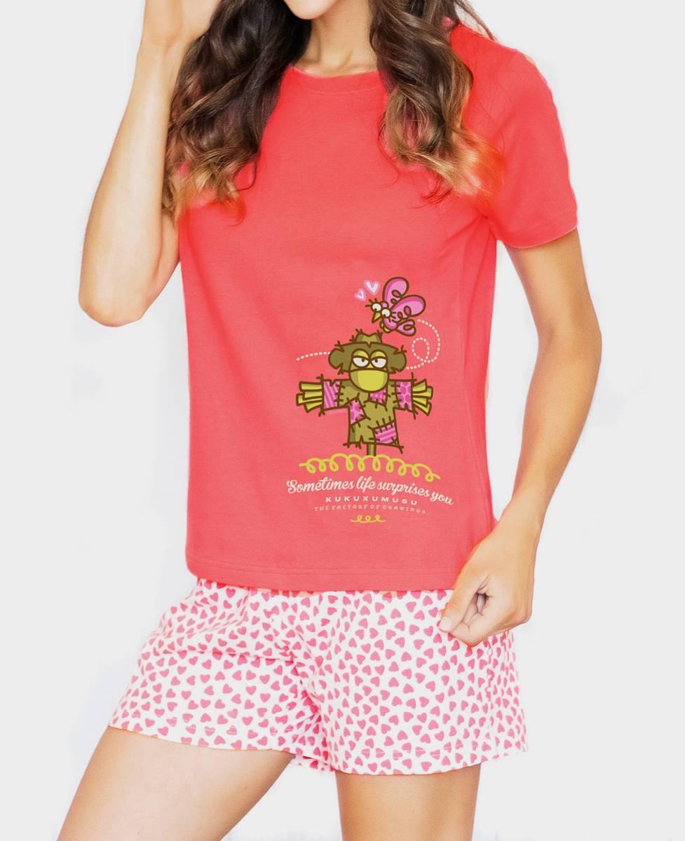 Pijama de Manga Corta para Mujer Amor Imposible