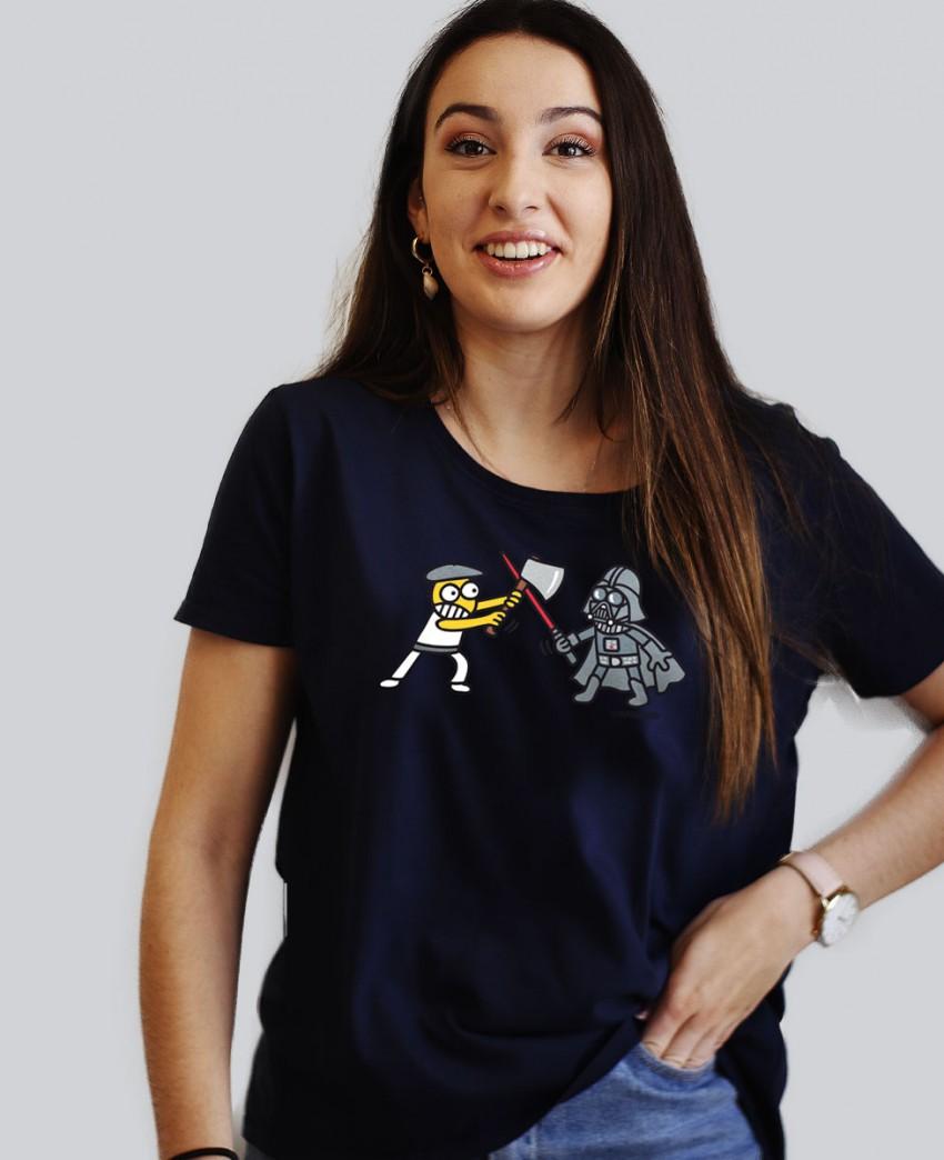 Camiseta de Mujer Aizkogalaxia en Azul Marino