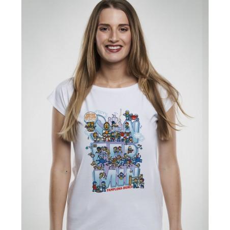 Kukuxumusu Camiseta de Manga Corta de Mujer Live San Fermín