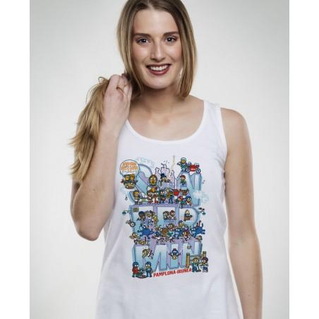 Kukuxumusu Camiseta tirantes de mujer Live San Fermin