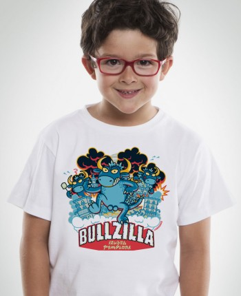 Kukuxumusu Camiseta de niño Toro Bullzilla