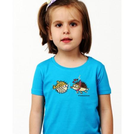 Camiseta de niña Ming Chao en Azul