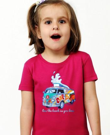 Camiseta niña Furgosurf rosa