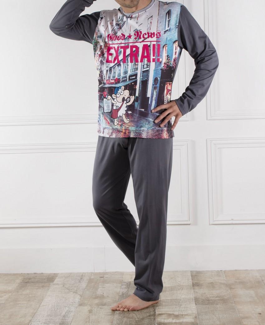 Pijama Largo de hombre Oveja Extra News