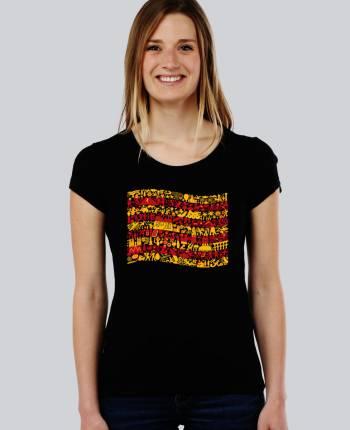 Camiseta mujer Senyera Mix