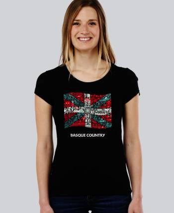 Camiseta mujer Ikurriña
