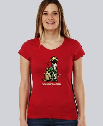 Camiseta mujer Whisky Yoda
