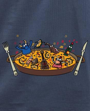 Camiseta hombre Fiesta Paella
