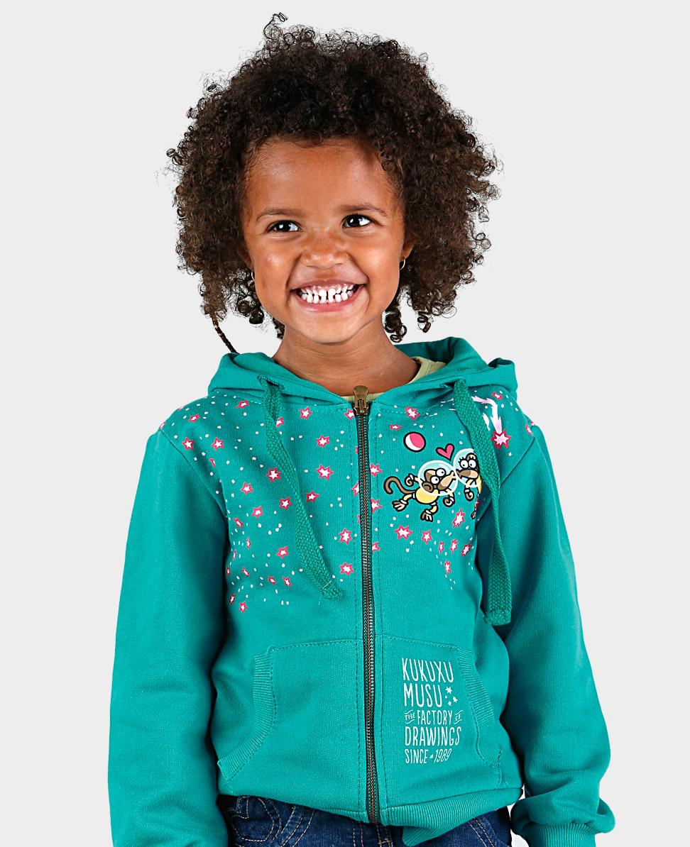 Sudadera niña Astromonki